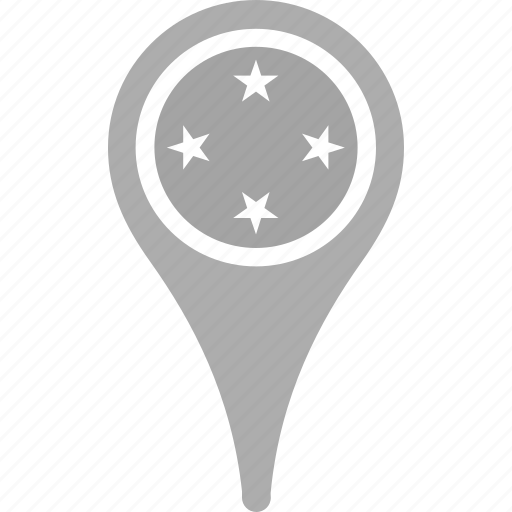 country, county, flag, map, national, pin, the federated states of micronesia icon