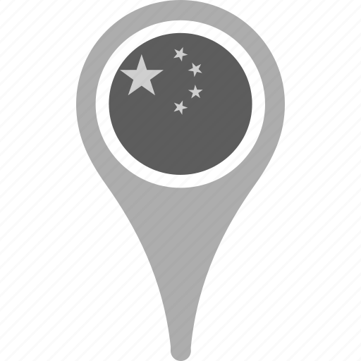 country, county, flag, map, national, pin, the peoples republic of china icon