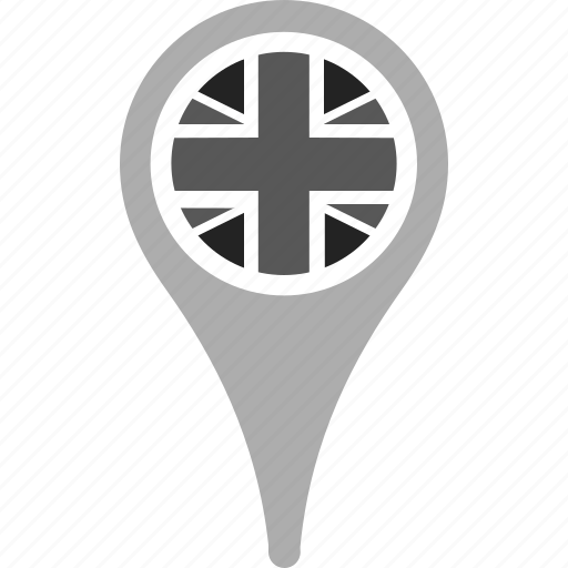 country, county, flag, national, pin, uk, united kingdom icon
