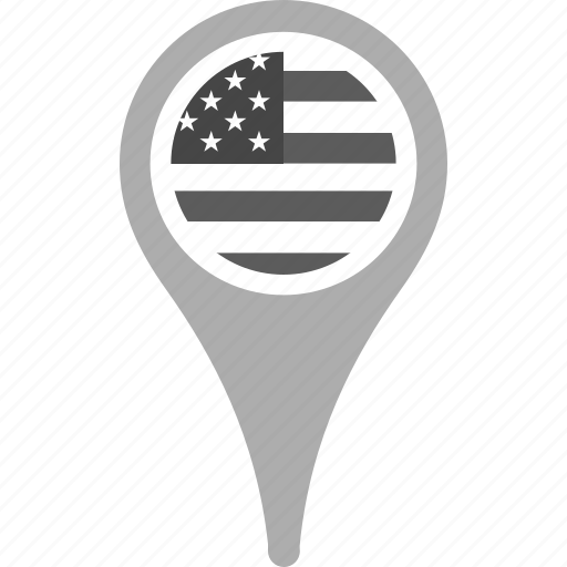 country, county, flag, national, pin, united states, us icon
