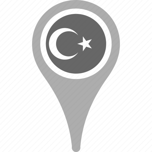 country, county, flag, map, national, pin, turkey icon