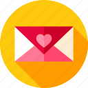 day, envelope, heart, letter, love, post, valentine