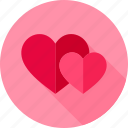 couple, hearts, love, romance, valentine, wedding icon