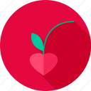 berry, cherry, food, fruit, heart, love icon