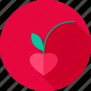 berry, cherry, food, fruit, heart, love
