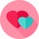 couple, feeling, hearts, love, romance icon