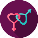 arrow, gender, heart, love, sex icon