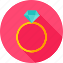diamond, jewelry, marriage, marry, propose, ring, wedding icon