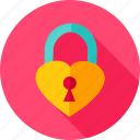 heart, keyhole, lock, love, padlock icon