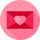 envelope, heart, letter, love, post, valentine icon