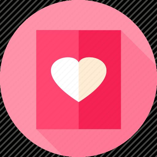 heart, letter, love, paper, postcard, valentine icon