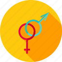 arrow, female, gender, male, man, sex, woman icon