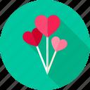 balloon, day, decoration, hearts, love, valentine icon