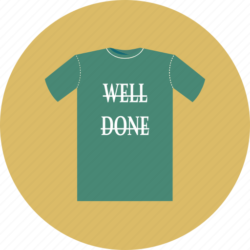 done, shirt, t-shirt, well icon