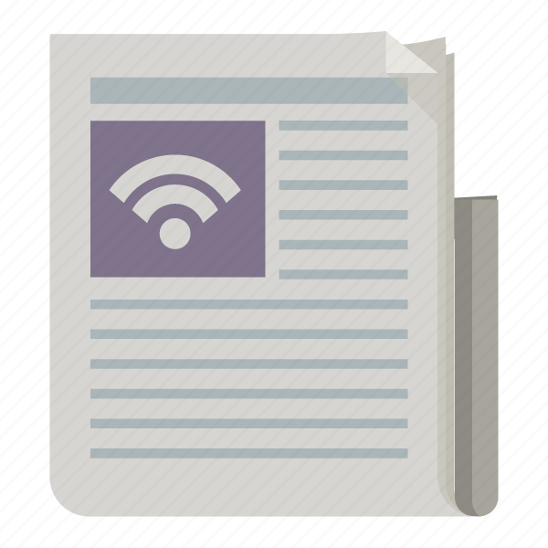 feed, news, newspaper, rss, update icon