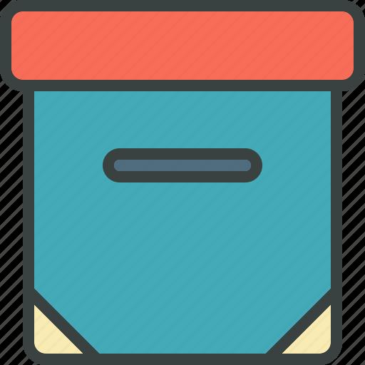 archive, archiver, box, office, organize, organizer icon