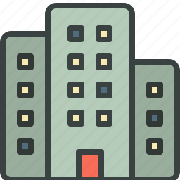 building, business, commercial, office, skyscraper icon