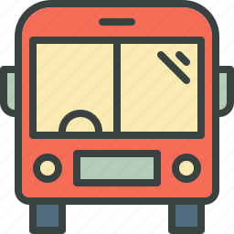 bus, commute, journey, long vehicle, school bus, travel, vehicle icon