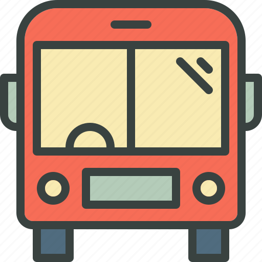bus, commute, journey, long vehicle, school bus, travel, vehicle icon
