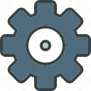 account, cog, gear, machinery, mechanical, mechanics, preferences, settings icon