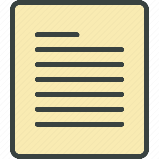 article, blog post, content, file, list, page, paper, text icon