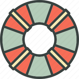 life belt, life buoy, marine, sea, support icon