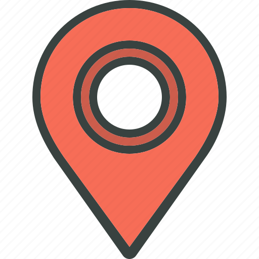 destination, distance, locate, location, pin, pinpoint, place icon
