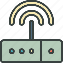 connection, internet, modem, signal, web, wi-fi icon