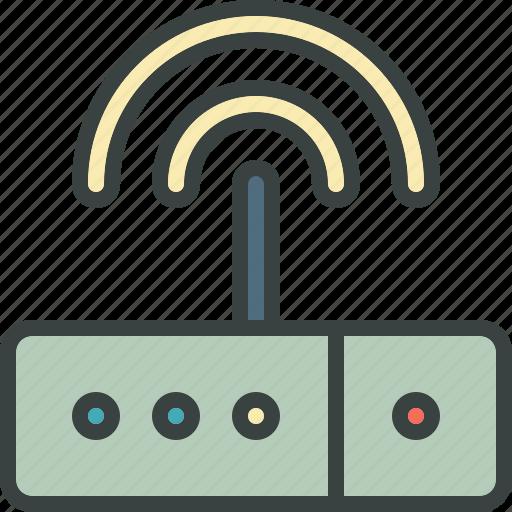 connection, internet, modem, signal, web, wi-fi icon