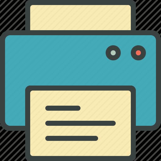 cmyk, document, paper, print, printer icon
