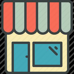 boutique, building, business, kiosk, market, marketplace, merchant, residential, sell, shop, venture, webshop icon