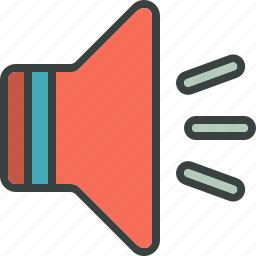 loud, loudspeaker, megaphone, music, speak, speaker, volume icon
