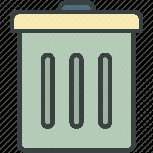 delete, erase, garbage, junk, trash, trashbin, trashcan icon