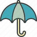 cover, overcast, protection, rain, umbrella, weather icon