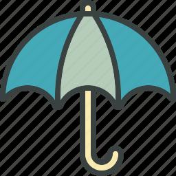 cover, overcast, protection, rain, umbrella, weather icon