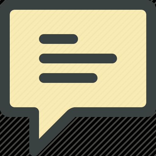 chat, chat bubble, comment, talk icon