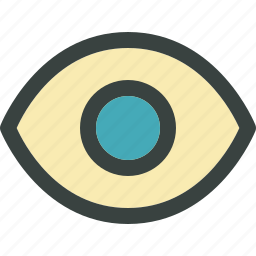 eye, find, public, search, see, seek, sight, spy, view, visible icon