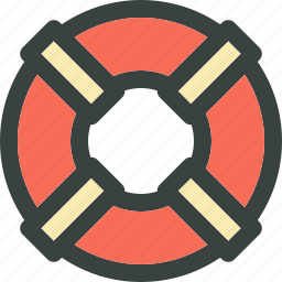 client support, customer support, help, life belt, life buoy, marine, save, sea, service, support, technical support icon
