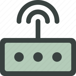 antenna, communication, connection, hardware, internet, modem, network, signal icon