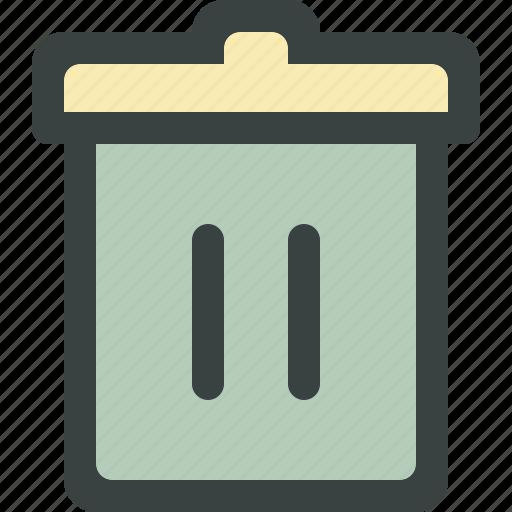 bin, delete, empty, erase, garbage, junk, recycle, recycle bin, remove, trash, trashcan icon