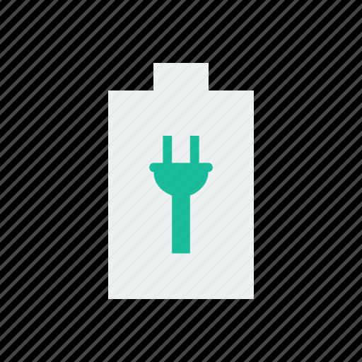 battery, charge, plug icon