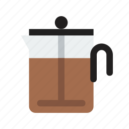bodum, coffee, drink, food icon