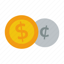 cent, change, coins, currency, dollar, money icon