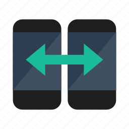 device, exchange, smartphone icon
