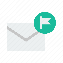 email, flag icon
