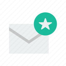 email, star icon