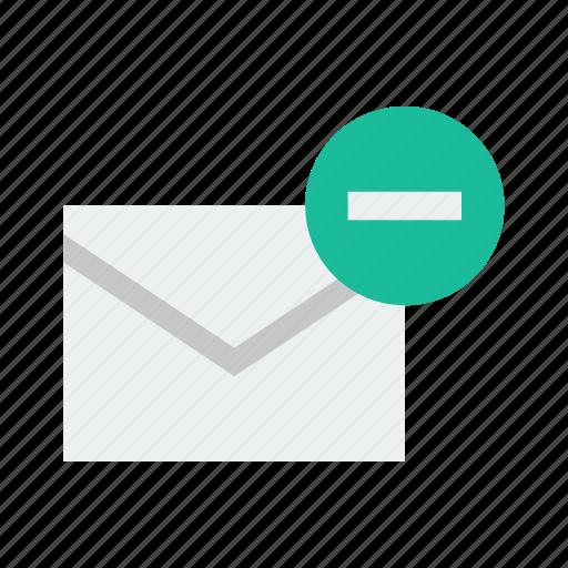 delete, email, minus, remove icon