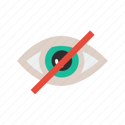 disable, eye, visibility icon