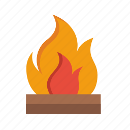 camp, camping, fire icon