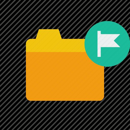 flag, folder icon